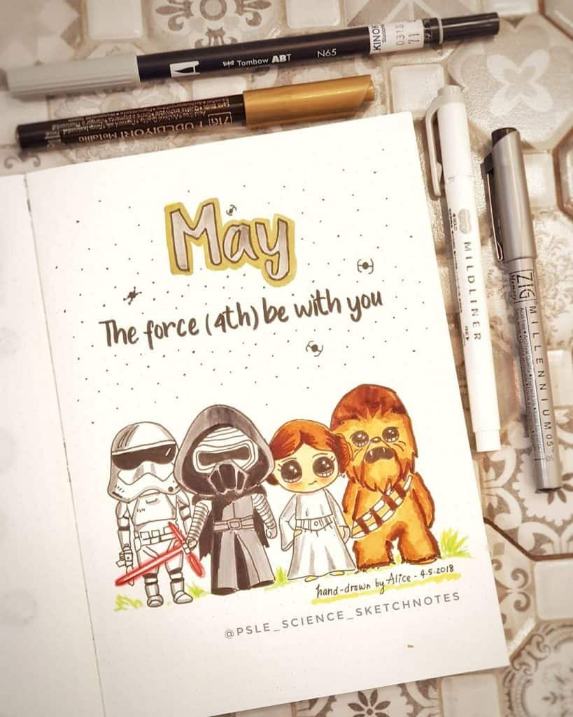 Star Wars themed bullet journal